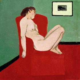 F.Vallotton / Nude woman on a chair