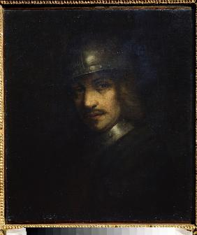 Portrait of a man with helmet