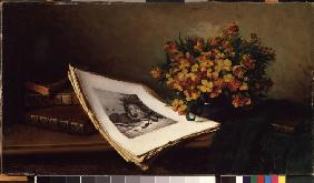 Still life with a lithograph