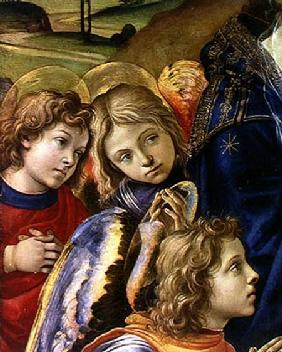The Vision of St. Bernard, detail of three angels