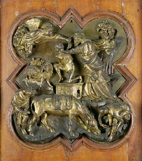 The Sacrifice of Isaac, bronze competition relief for the Baptistry Doors, Florence