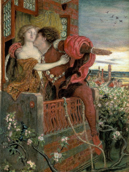 Romeo And Julia Ford Madox Brown En Reproduction Imprimee Ou Copie Peinte A L Huile Sur Toile