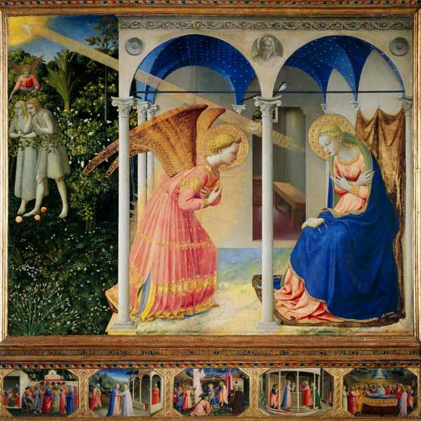 L Annonciation A Marie Tableau De Fra Angelico En Reproduction Imprimee Ou Copie Peinte A L Huile Sur Toile
