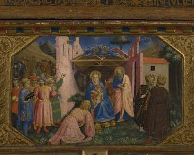 The Adoration of the Magi (The Annunciation retable with 5 Predella scenes)