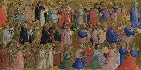 The Virgin Mary with the Apostles and Other Saints (Panel from Fiesole San Domenico Altarpiece)