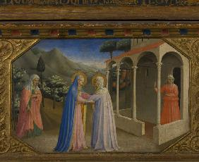 The Visitation (The Annunciation retable with 5 Predella scenes)
