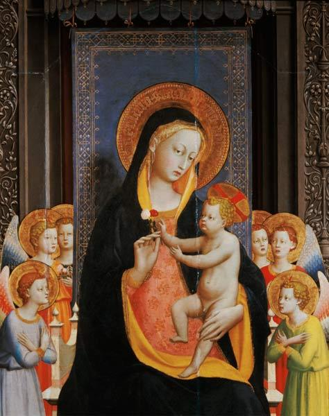 San Domenico Altarpiece, c.1422 (tempera & gold leaf on panel) (detail of 43192)