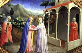 Visitation, from the predella of the Annunciation Alterpiece