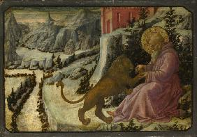 Saint Jerome and the Lion (Predella Panel of the Pistoia Santa Trinità Altarpiece)