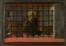 Saint Mamas in Prison thrown to the Lions (Predella Panel of the Pistoia Santa Trinità Altarpiece)