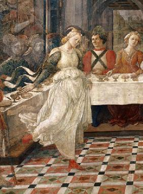 Salome dancing at the Feast of Herod, detail of the fresco cycle of the Lives of the SS. Stephen and