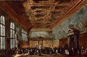 The Doge of Venice Giving Audience in the Sala del Collegio in the Doge's Palace