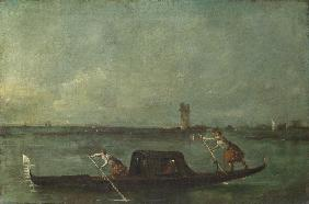 A Gondola on the Lagoon near Mestre