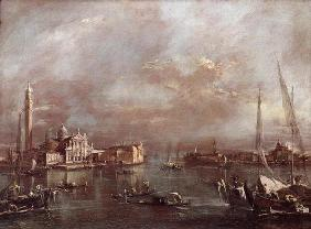 The Basin of Saint Mark's Square, with San Giorgio and the Giudecca, c.1774 (oil on canvas)