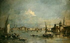 The Church of San Giorgio Maggiore and the Riva degli Schiavoni (oil on canvas)