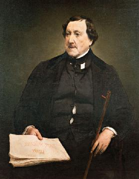 Portrait of the composer Gioachino Antonio Rossini (1792-1868)