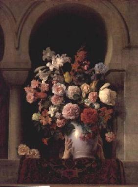 Vase of flowers in the window