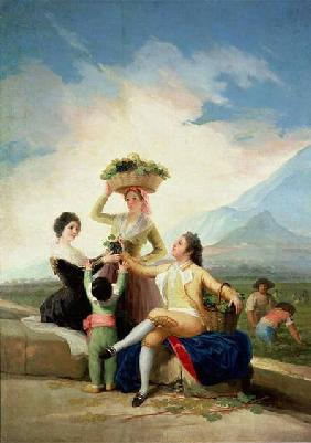 de Goya, Francisco Jos� : Autumn, or The Grape Harve...