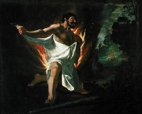 Hercules Tearing the Burning Robe