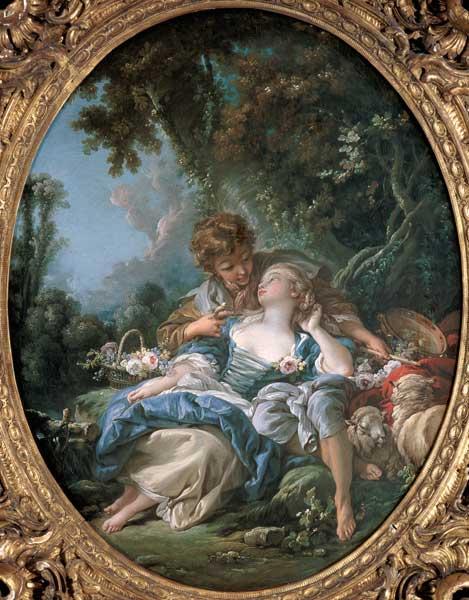 Lovers 39 tryst fran ois boucher for Boucher peintre