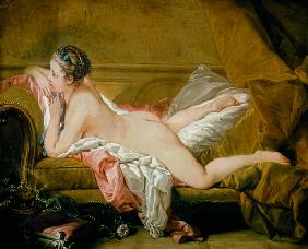 Boucher, Fran�ois : Fille nue allong�e (Louise...