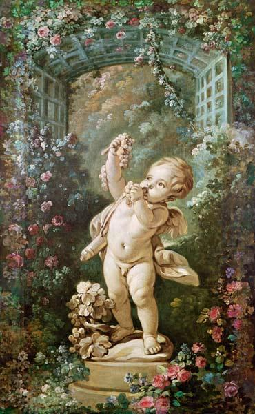 Boucher, Fran�ois : Cupid with Grapes