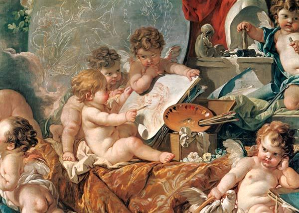 Boucher, Fran�ois : Genius Teaching the Arts