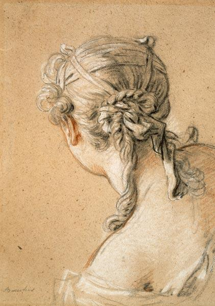 Boucher, Fran�ois : Head of a Girl from Behind