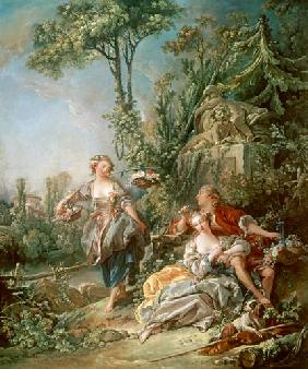 Boucher, Fran�ois : Lovers in a Park