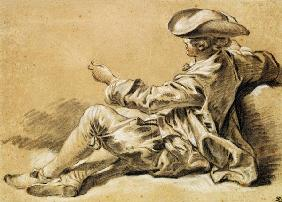 Boucher, Fran�ois : Small boy with a fishing r...
