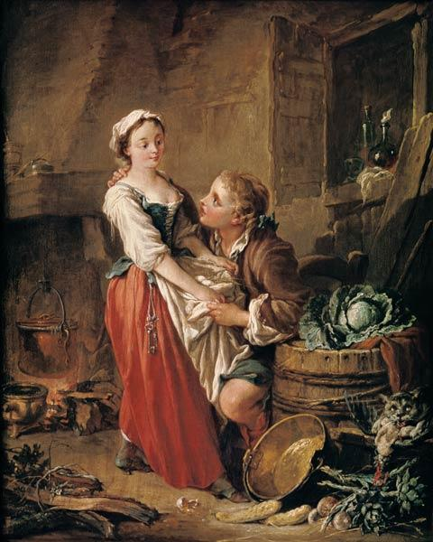 Boucher, Fran�ois : The Beautiful Kitchen Maid
