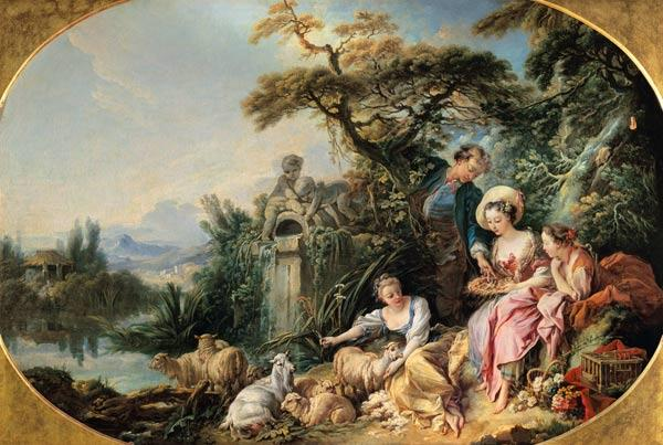 Boucher, Fran�ois : The Shepherd's Gift or, Th...