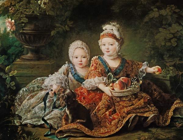 Louis de France (1754-93) duc de Berry a - François-Hubert Drouais en  reproduction imprimée ou copie peinte à l'huile sur toile