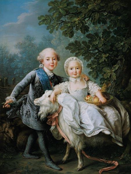 Portrait of Charles Philippe of France ( - François-Hubert Drouais