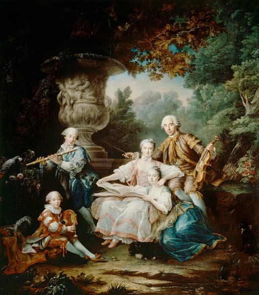 Louis du Bouchet (1645-1716) Marquis de Sourches and his Family