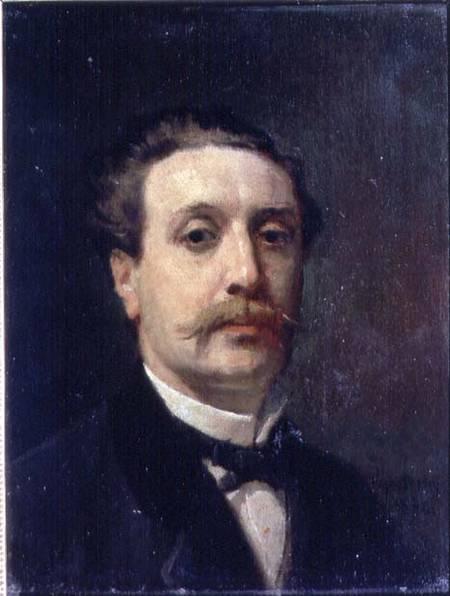 Portrait Of Guy De Maupassant 1850 93 Francois Nicolas