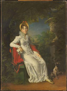 Caroline Bonaparte (1782-1839), Queen of Naples and Sicily, in the Bois de Boulogne