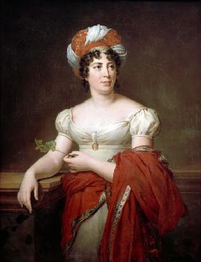 Portrait of the author Baronne Anne Louise Germaine de Staël (1766-1817)