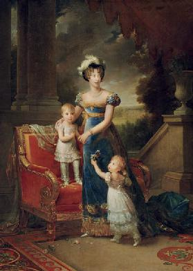 Duchesse de Berry with children Louise Marie Thérèse d'Artois and Henri d'Artois