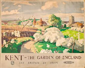 'Kent- The Garden of England', poster advertising rail journeys