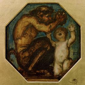 Von Stuck / Faun and Boy Bacchus / c.190