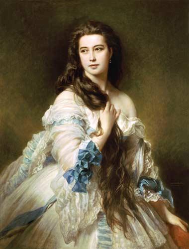 Portrait de Madame Rimsky-Korsakov (1833-78) née Varvara Dmitrievna Mergassov