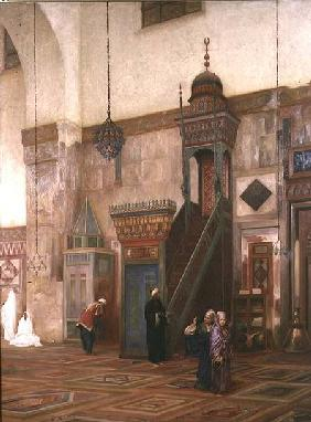 Detail of the interior of the Grand Mosque, Damascus