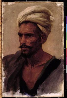 Male figure with a Turban, 1865 (oil on canvas)