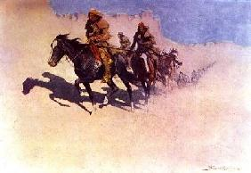 Jedediah Smith (1799-1831) Making his Way Across the Desert from Green River to the Spanish Settleme