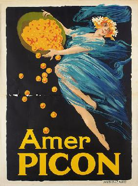 Advertising poster for aperitif Amer Picon
