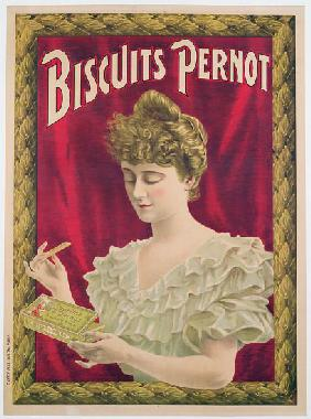 Poster advertising Pernot biscuits