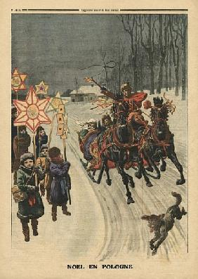 Christmas in Poland, illustration from ''Le Petit Journal'', supplement illustre, 24th December 1911