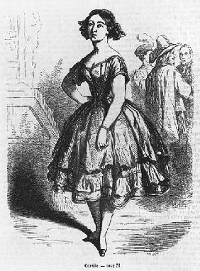 Coralie, illustration from ''Les Illusions perdues'' Honore de Balzac