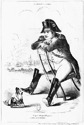 La Grenouille et le Boeuf : The Small and the Large Napoleon I, caricature from ''The Puppet Show''